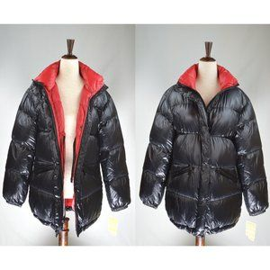Michael Kors Black Quilted Down Puffer Jacket Coat